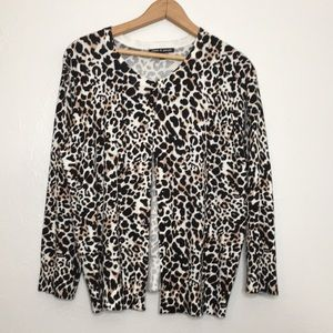 Euc cheetah print cardigan